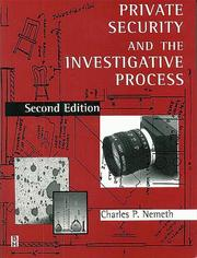 Cover of: Private security and the investigative process