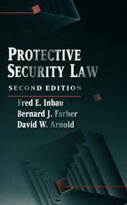 Cover of: Protective security law