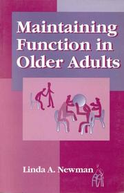 Cover of: Maintaining function in older adults