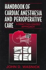 Cover of: Handbook of cardiac anesthesia and perioperative care