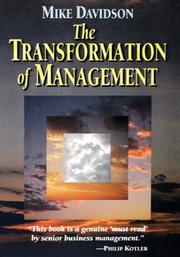 Cover of: The transformation of management | Mike Davidson