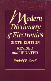 Cover of: Modern dictionary of electronics