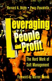 Cover of: Leveraging people and profit | Bernard A. Nagle