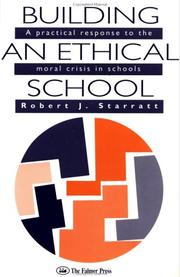 Cover of: Building an ethical school