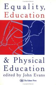 Cover of: Equality, education, and physical education |