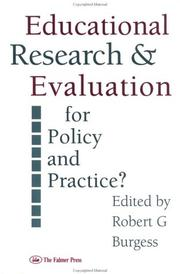 Cover of: Educational research and evaluation