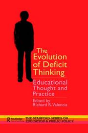 Cover of: The Evolution of Deficit Thinking
