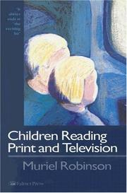 Cover of: Children reading print and television