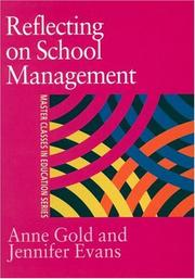 Cover of: Reflecting On School Management (Master Classes in Education)