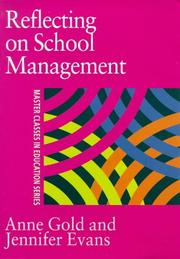Cover of: Reflecting On School Management