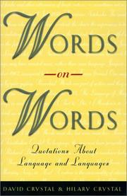 Cover of: Words on words | David Crystal