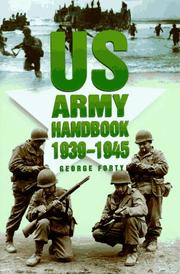 Cover of: Us Army Handbook 1939-1945 (Military Series)