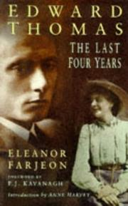 Cover of: Edward Thomas: the last four years