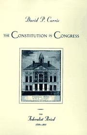 Cover of: The Constitution in Congress