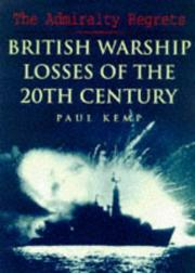 Cover of: The Admiralty regrets