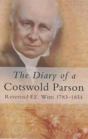 Cover of: The Diary of a Cotswold Parson (Letters & Diaries)