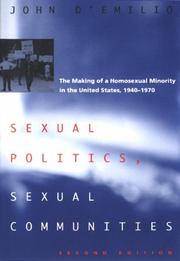 Cover of: Sexual politics, sexual communities