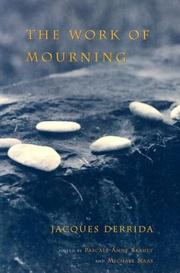 Cover of: The Work of Mourning