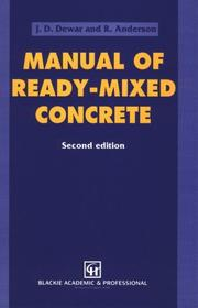 Cover of: Manual of ready-mixed concrete