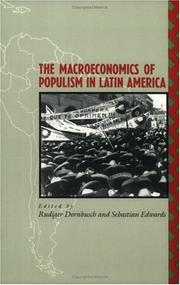 Cover of: The Macroeconomics of populism in Latin America