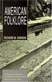 Cover of: American folklore