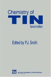 Cover of: Chemistry of tin. |
