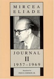 Cover of: Journal II, 1957-1969 | Mircea Eliade
