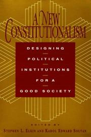Cover of: A New constitutionalism |