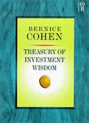 Cover of: Treasury of investment wisdom