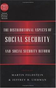 Cover of: The Distributional aspects of social security and social security reform |
