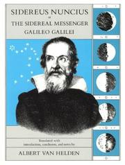 Cover of: Sidereus nuncius, or, The Sidereal messenger