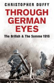 Cover of: Through German Eyes