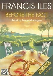 Cover of: Before the Fact (Church of England) (Church of England)