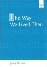Cover of: The way we lived then