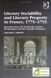 Literary sociability and literary property in France, 1775-1793
