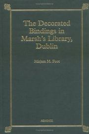 Cover of: The decorated bindings in Marsh's Library, Dublin