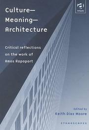 Cover of: Culture--meaning--architecture |