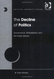 Cover of: The Decline of Politics