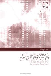 Cover of: The Meaning of Militancy?