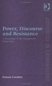 Cover of: Power, Discourse and Resistance | Eamonn Carrabine