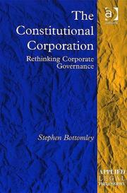 Cover of: The constitutional corporation