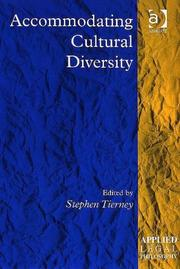 Cover of: Accommodating Cultural Diversity (Applied Legal Philosophy) | Stephen Tierney