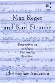 Cover of: Max Reger and Karl Straube