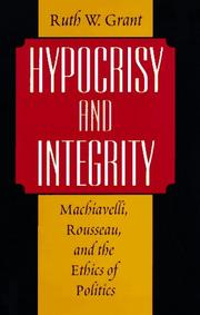 Cover of: Hypocrisy and integrity