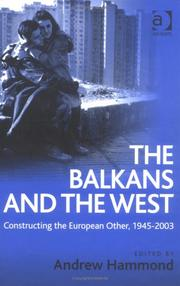 Cover of: The Balkans and the West