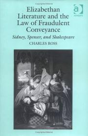 Cover of: Elizabethan literature and the law of fraudulent conveyance