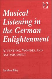 Cover of: Musical Listening in the German Enlightenment | Matthew Riley