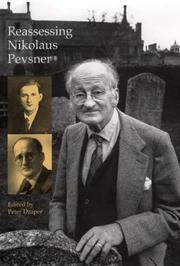Cover of: Reassessing Nikolaus Pevsner (British Art and Visual Culture Since 1750 New Readings) | Peter Draper