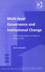 Cover of: Multi-Level Governance and Institutional Change | Enrico Gualini