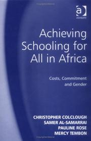 Cover of: Achieving Schooling for All in Africa | Samer Al-Samarrai